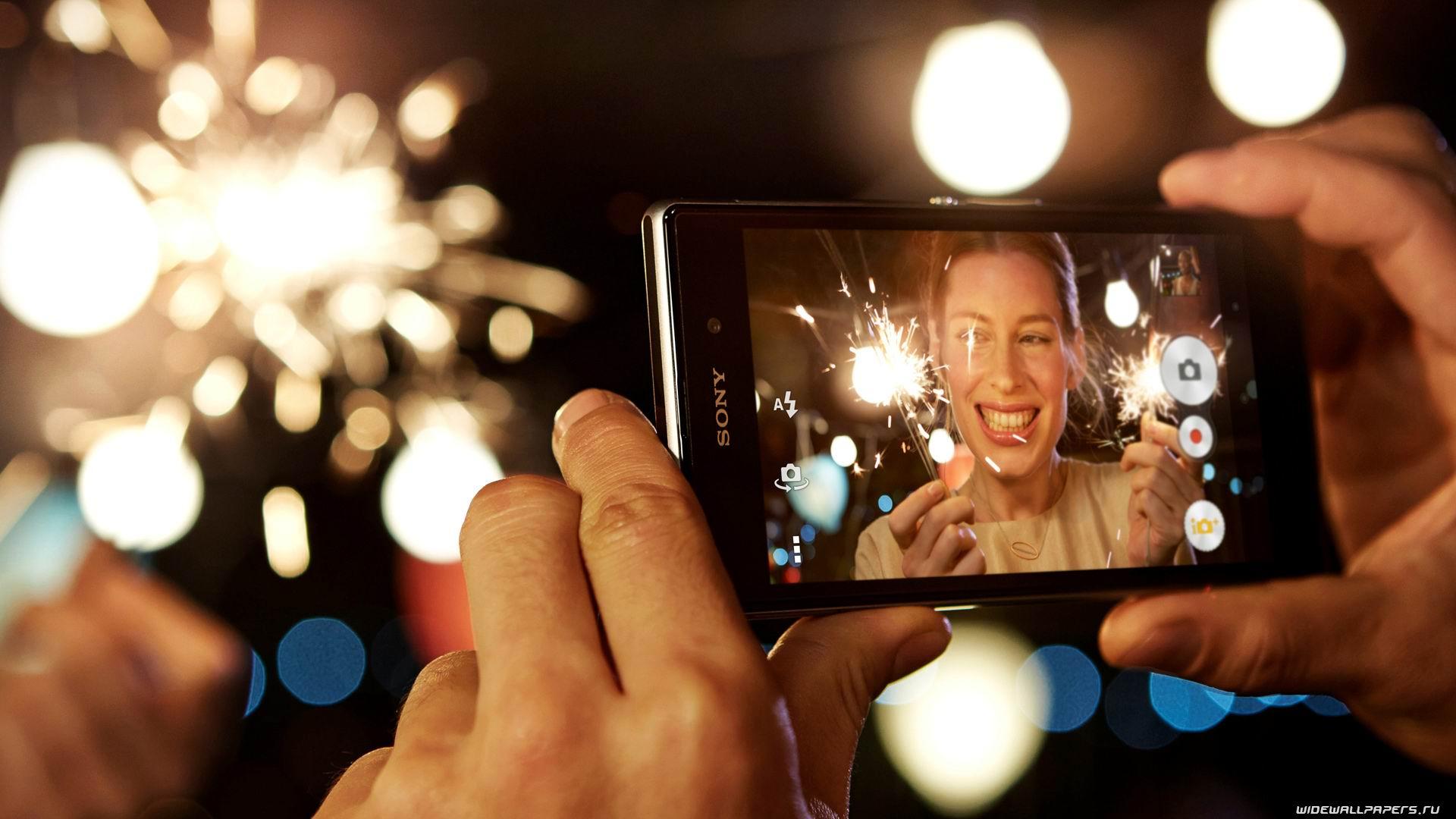 Фотоэффекты на экране телефона