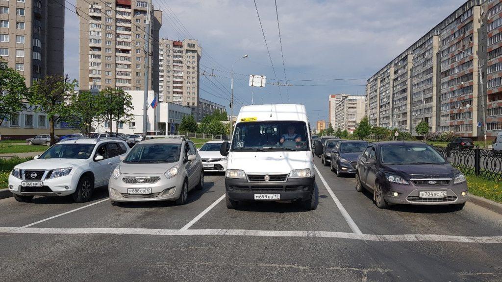 В Йошкар-Оле изменили разметку на одной из улиц