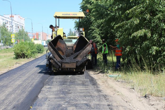 В Йошкар-Оле ремонтируют тротуары