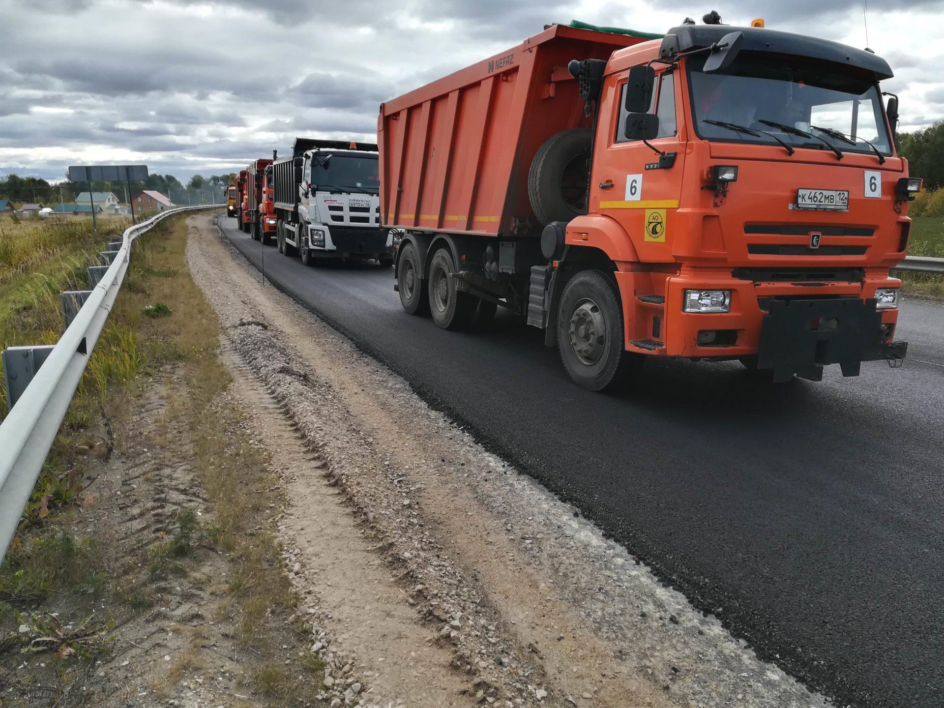 В Марий Эл за полгода перевезено 2643,8 тыс. тонн грузов