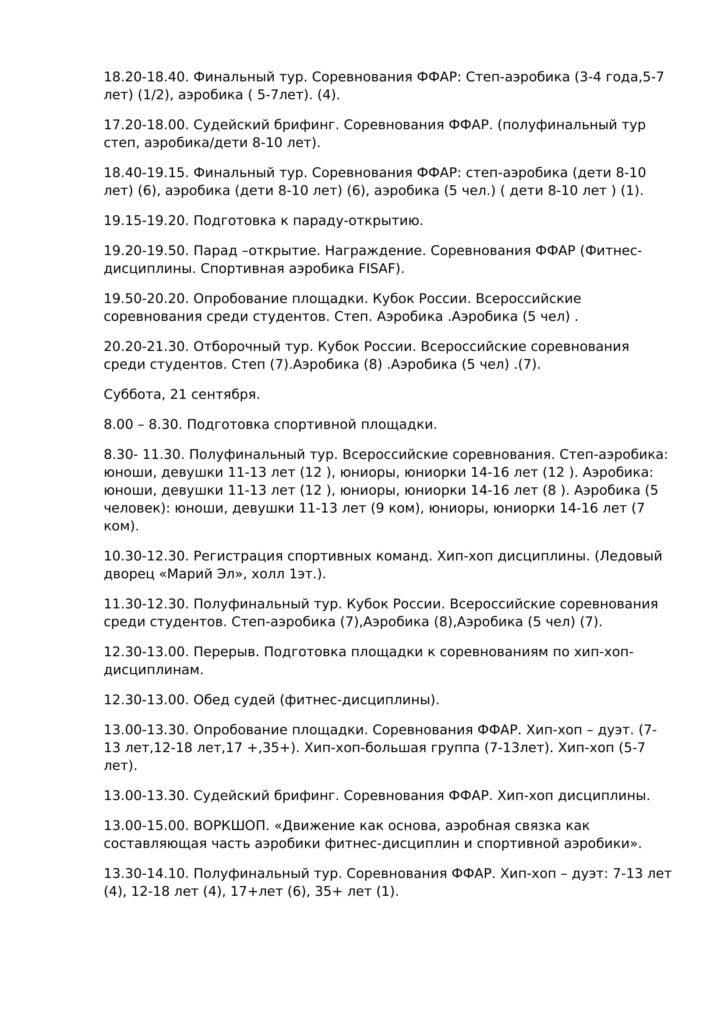Стало известно расписание кубка России по фитнес-аэробике в Марий Эл
