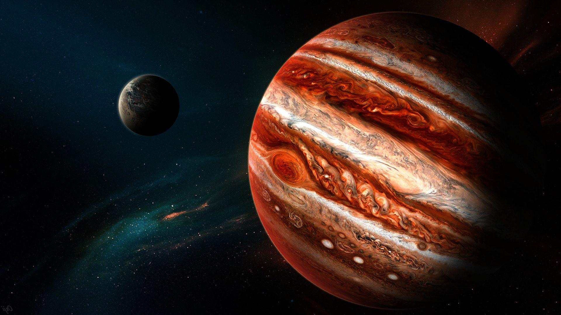 На южное полушарие Юпитера упал неизвестный космический объект