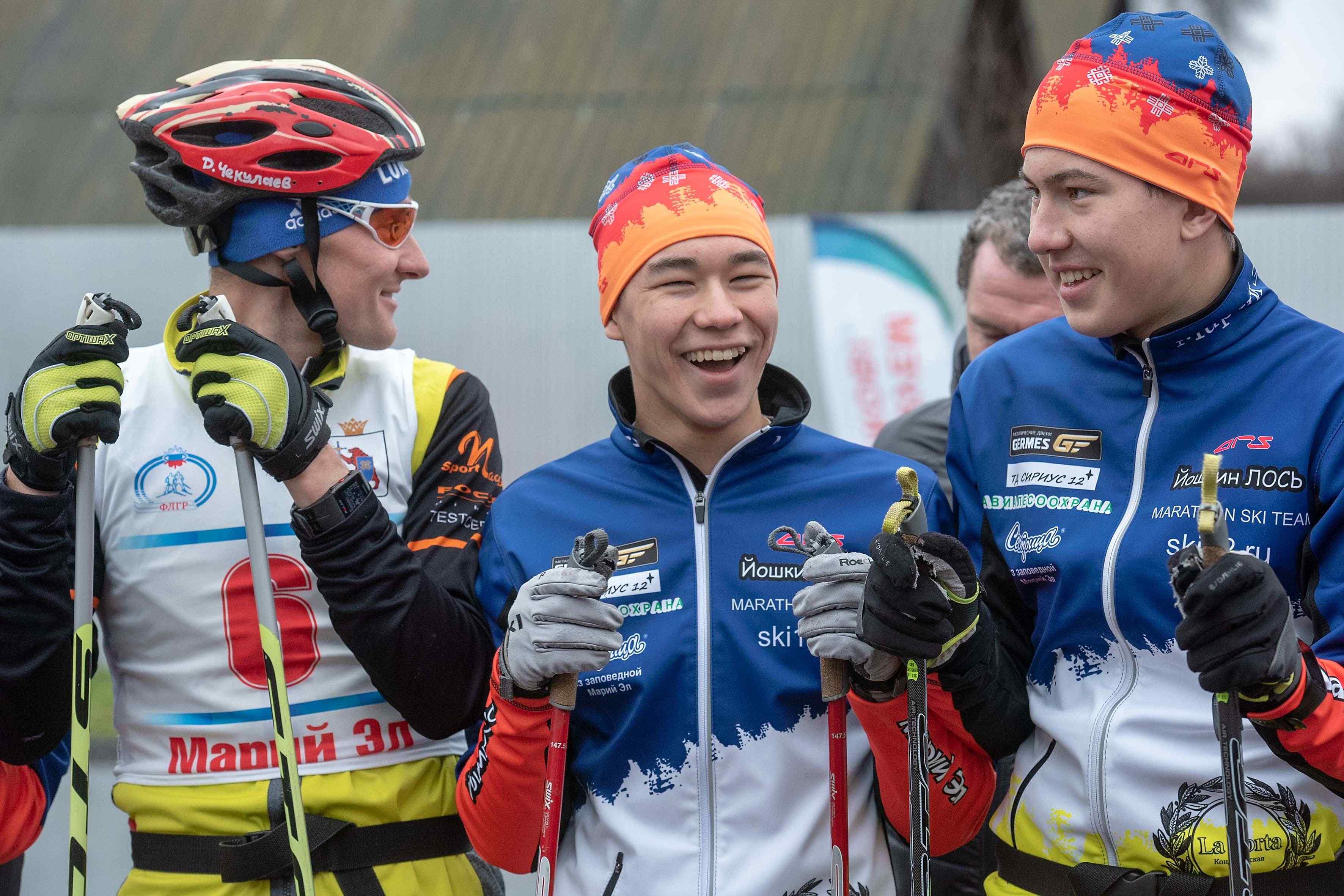 Главы Марий Эл и Федерации лыжных гонок РФ открыли лыжероллерную трассу