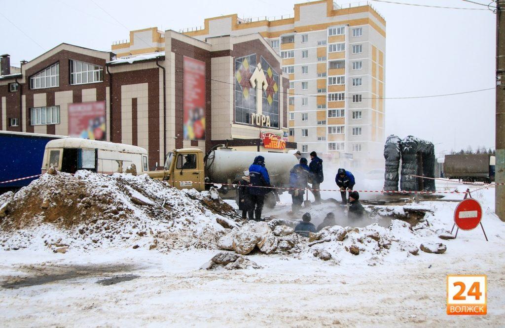 В Волжске идет срочный ремонт теплосети