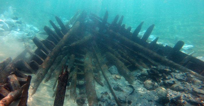 В Балтийском море на глубине 26 метров найден затонувший пароход