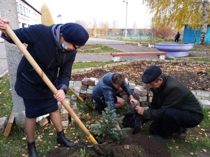Единороссы в районах Марий Эл посадили «Сады Победы»