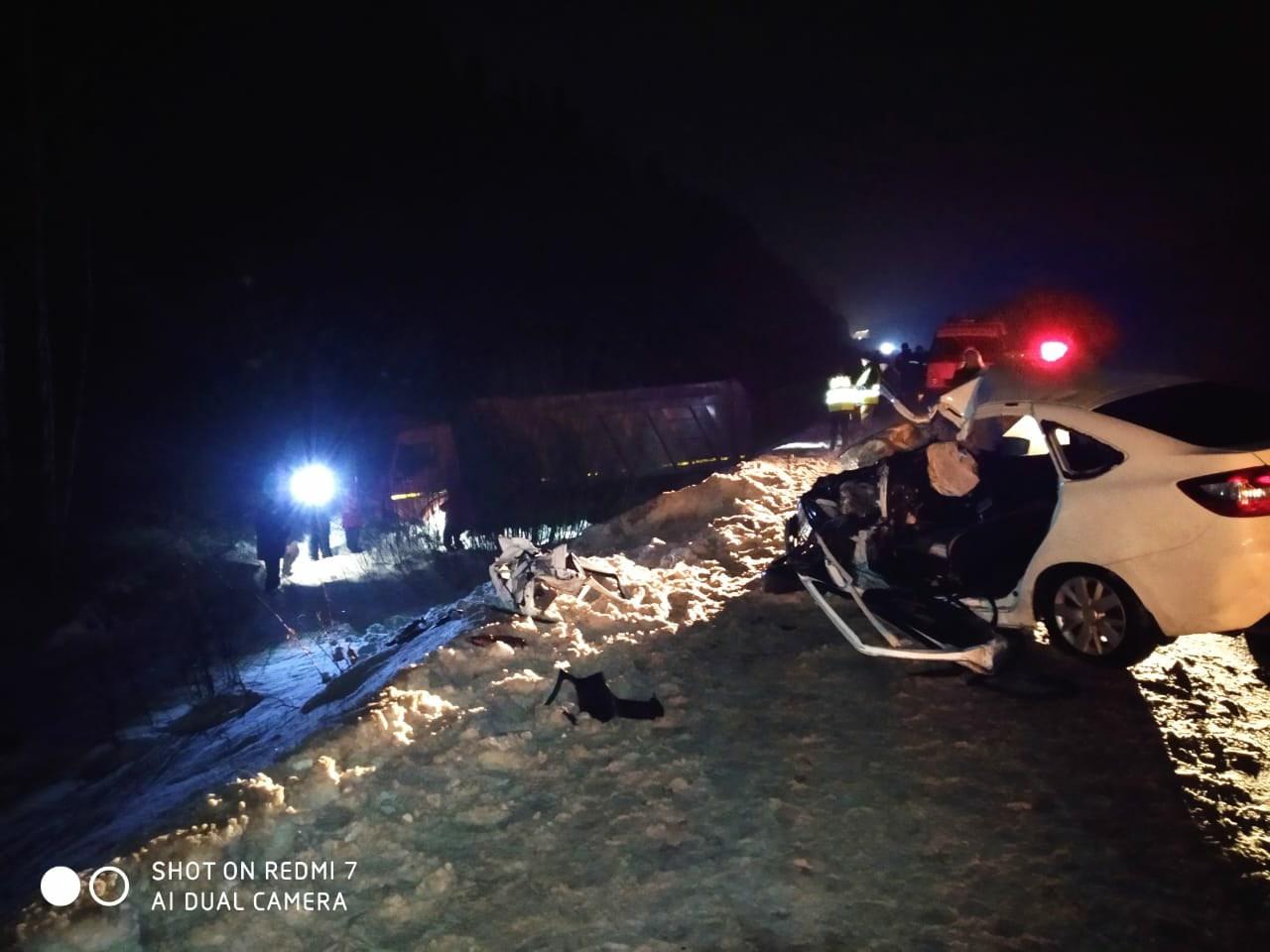 В Марий Эл пострадал человек при столкновении Лады Гранты с грузовиком
