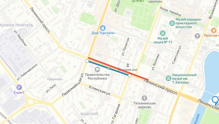 В центре Йошкар-Олы 23 января запретили стоянку транспорта