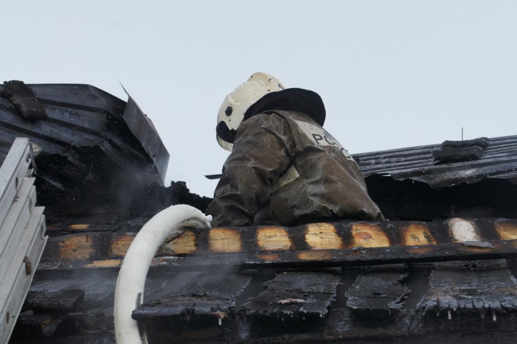 В Йошкар-Оле на одной из строек пострадал человек при пожаре