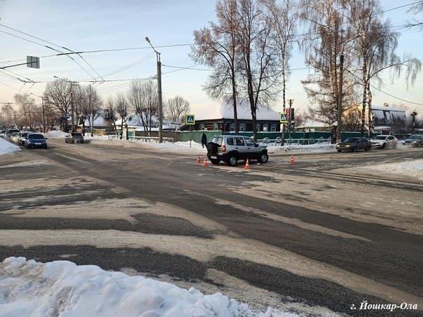 При столкновении автомобилей в Йошкар-Оле пострадал ребенок