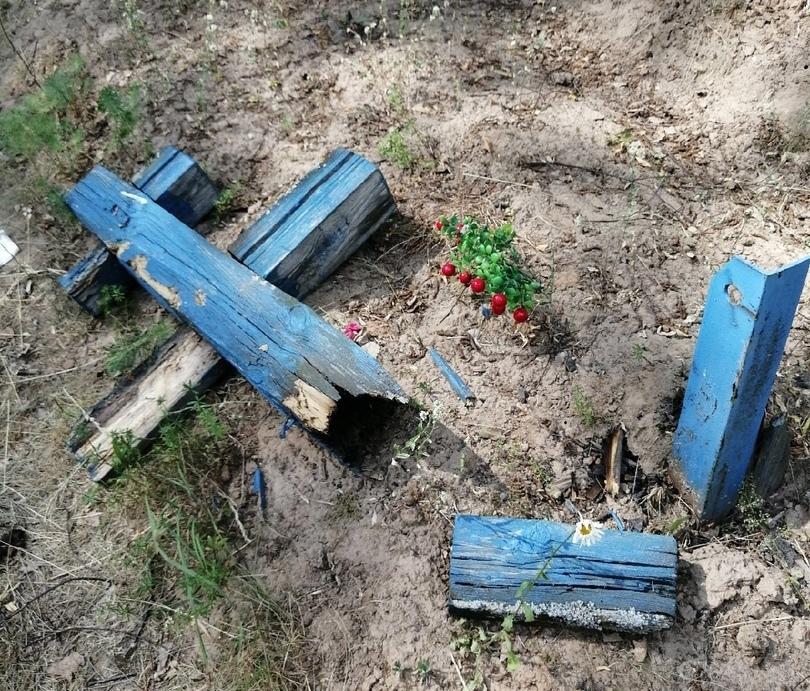 Вандалы разгромили кладбище в селе Марий Эл