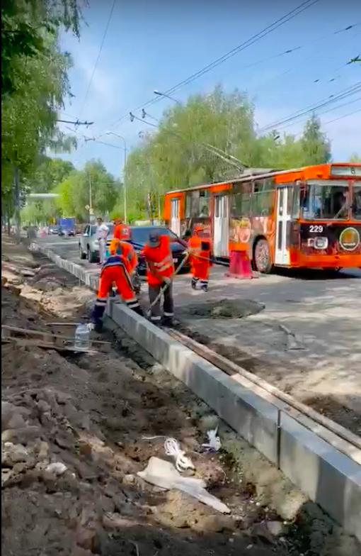 На улице Машиностроителей в Йошкар-Оле продолжается ремонт по нацпроекту