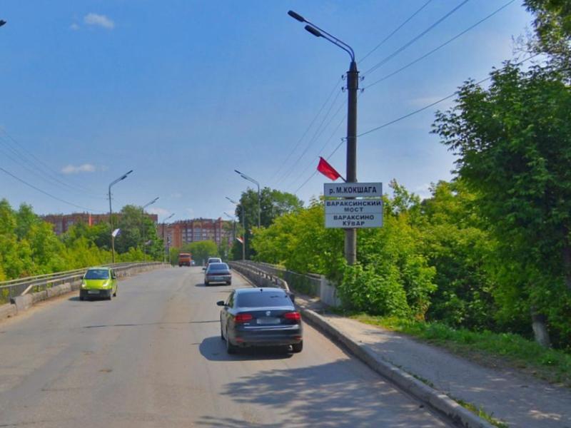 Вараксинский мост в Йошкар-Оле на месяц закроют для транспорта в 3 утра 3 июля