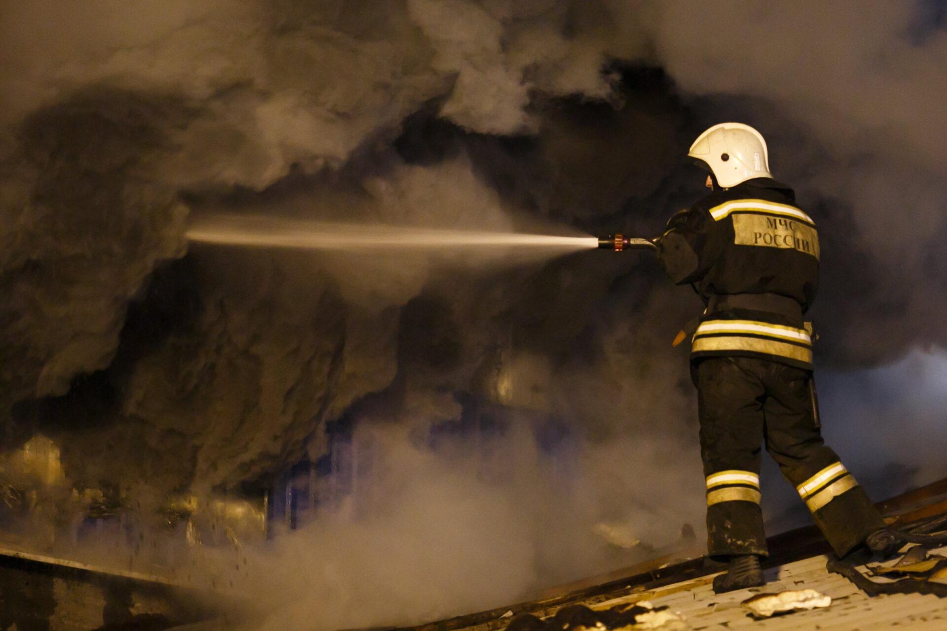 В Мари-Турекском районе Марий Эл горел комбикормзавод