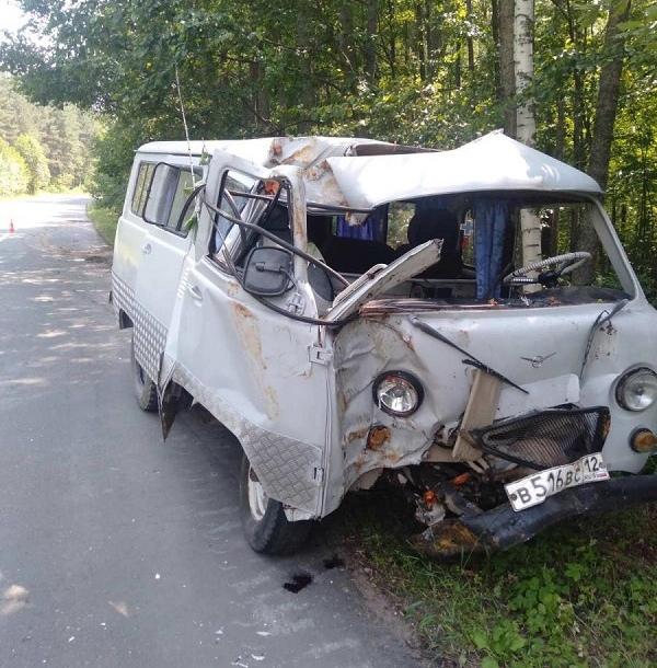 При наезде УАЗа на дерево в Марий Эл погибла женщина