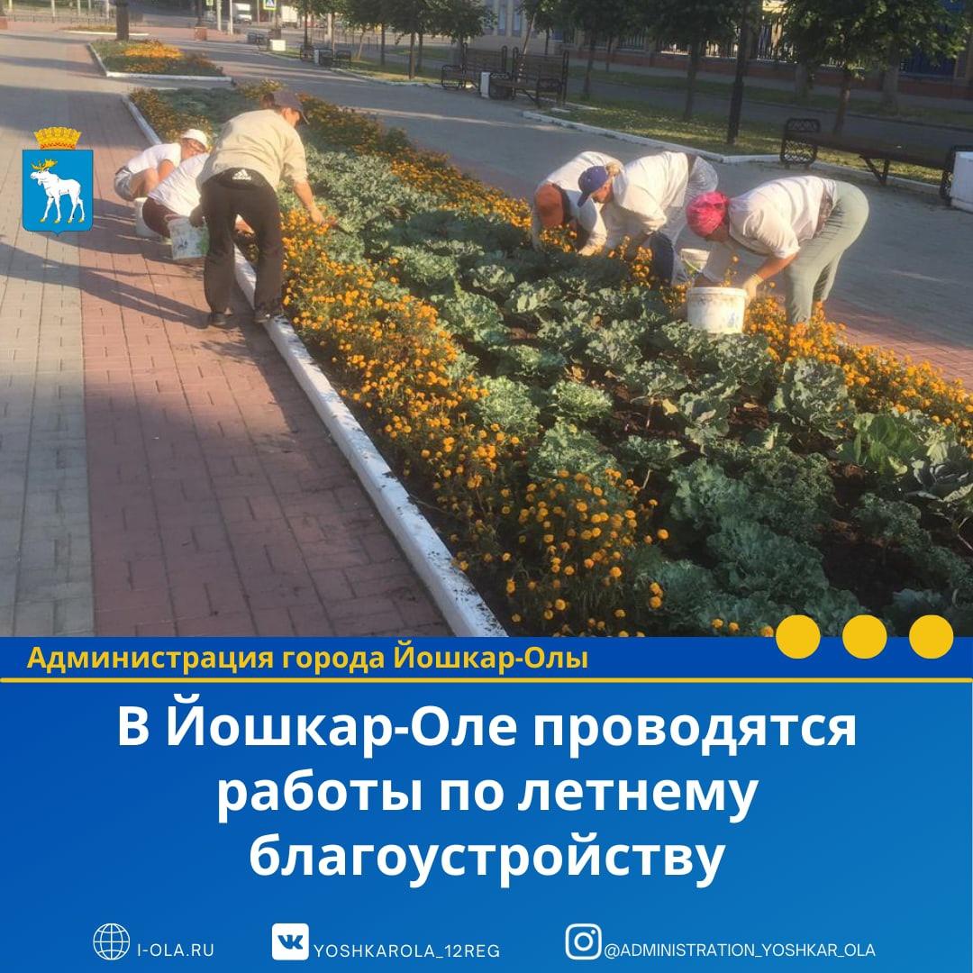 МУП «Город» приводит в порядок улицы и газоны Йошкар-Олы