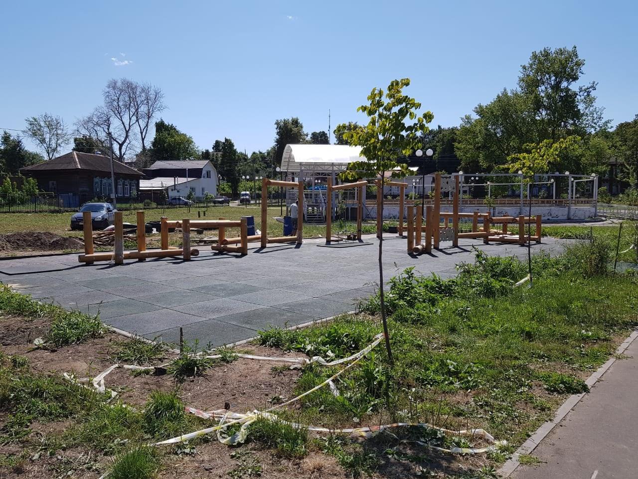 Работы по благоустройству парка в Козьмодемьянске завершаются
