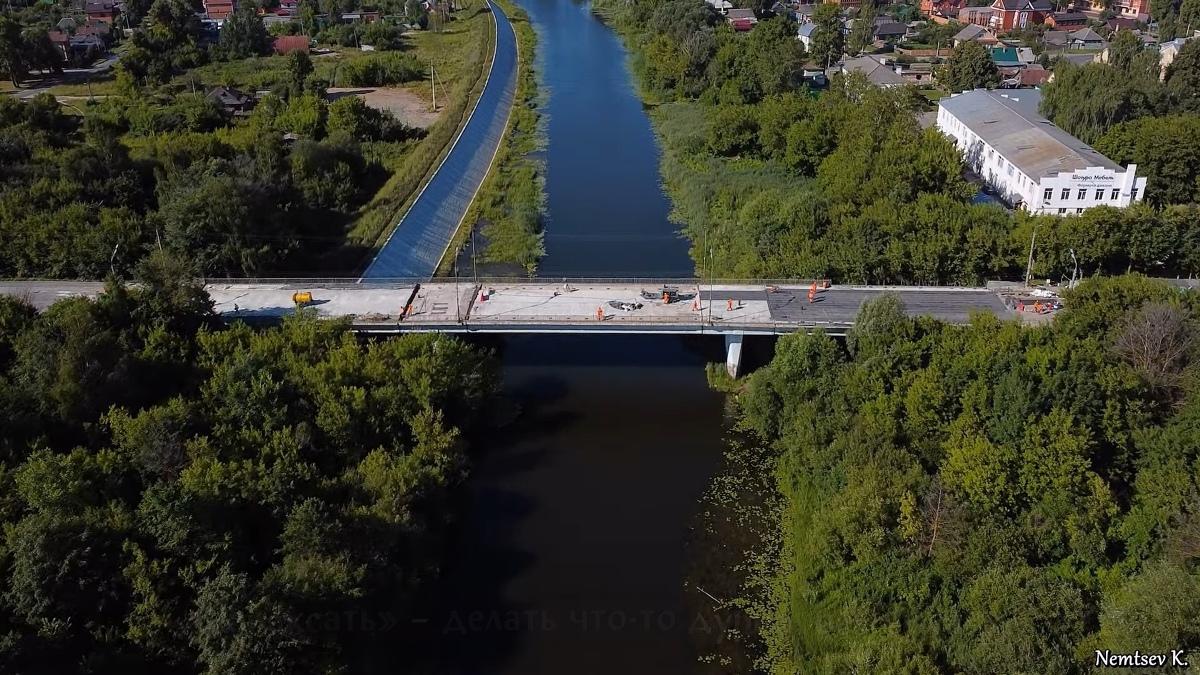 Ремонт Вараксинского моста в Йошкар-Оле сняли с квадрокоптера