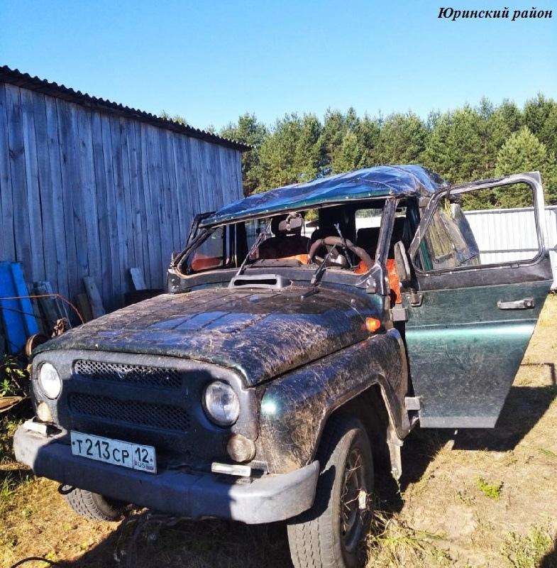 В Юринском районе Республики Марий Эл водитель съехал в кювет и скрылся с места аварии
