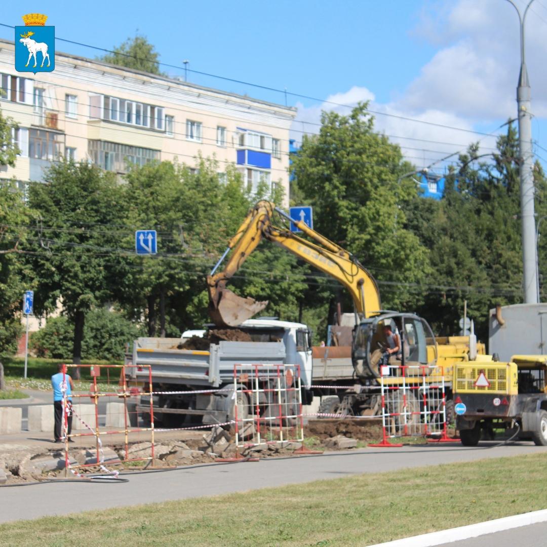В Йошкар-Оле проходит реконструкция тепломагистрали М-2