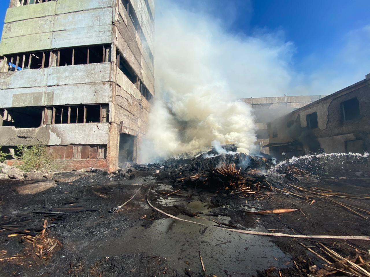 Пилорама сгорела в Йошкар-Оле