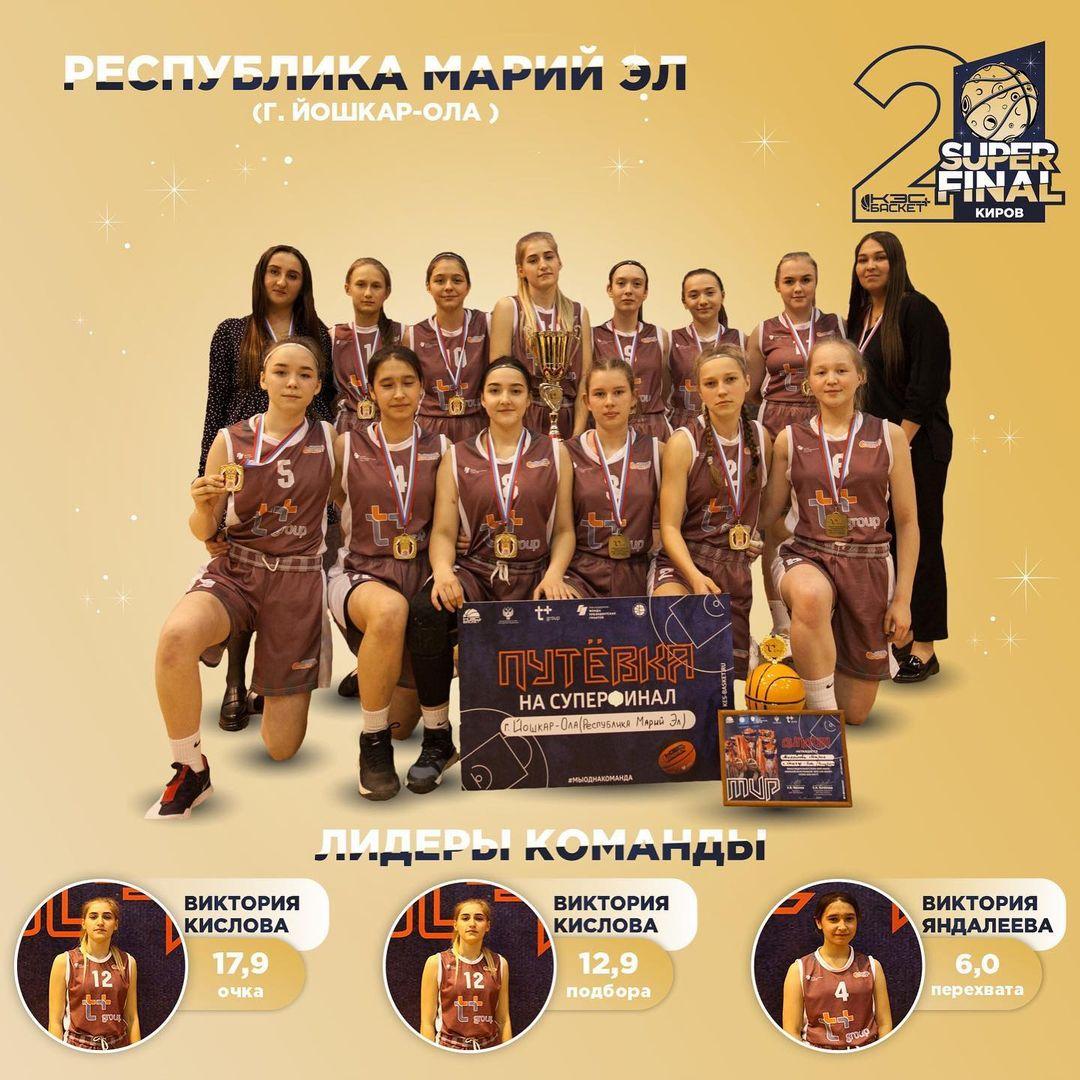 Баскетбольная команда девушек из Йошкар-Олы одержала первую победу на Суперфинале Чемпионата ШБЛ «КЭС-БАСКЕТ»