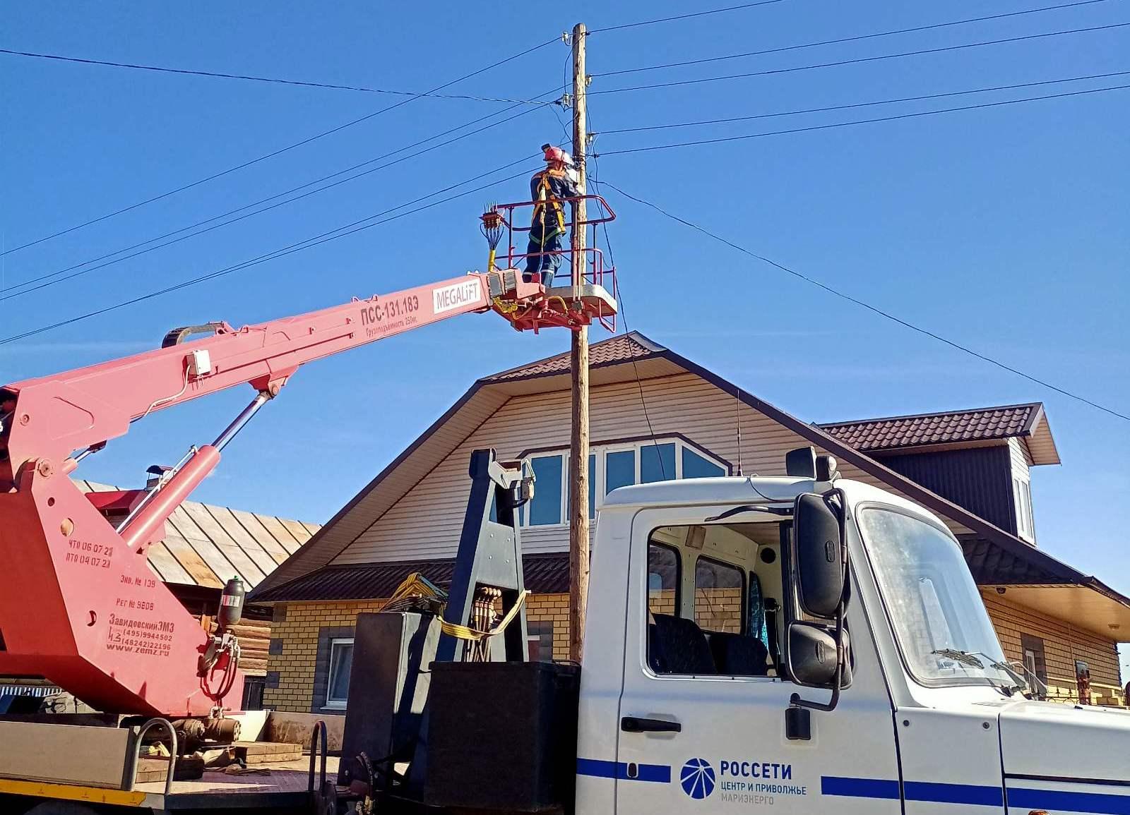 «Россети Центр и Приволжье Мариэнерго» продолжает модернизацию уличного освещения республики