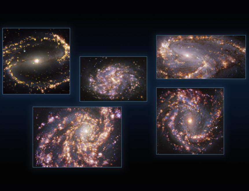Европейская Южная обсерватория опубликовала новые снимки 90 галактик