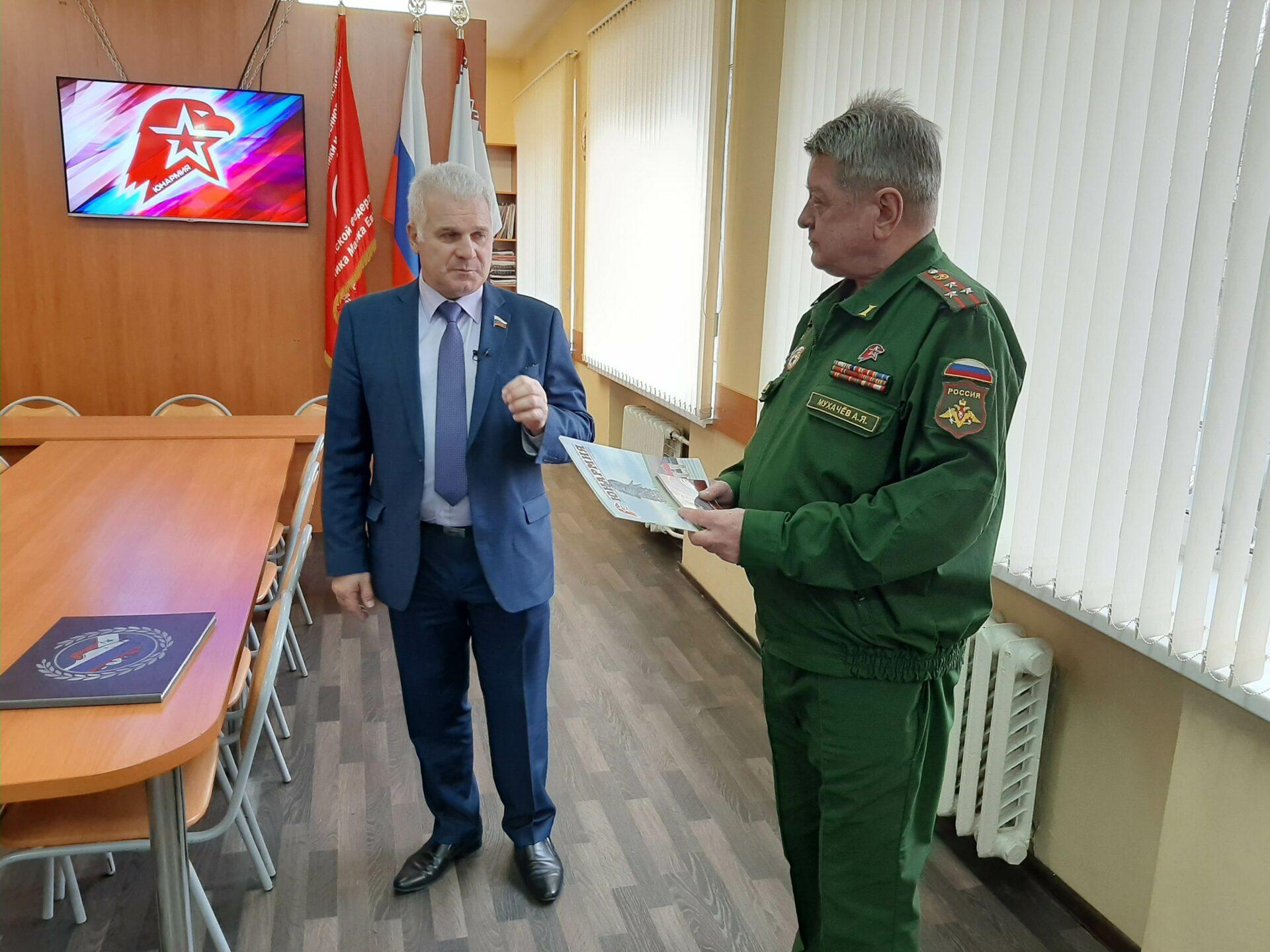 Сенатор Сергей Мартынов побывал в штабе «Юнармии» в Марий Эл