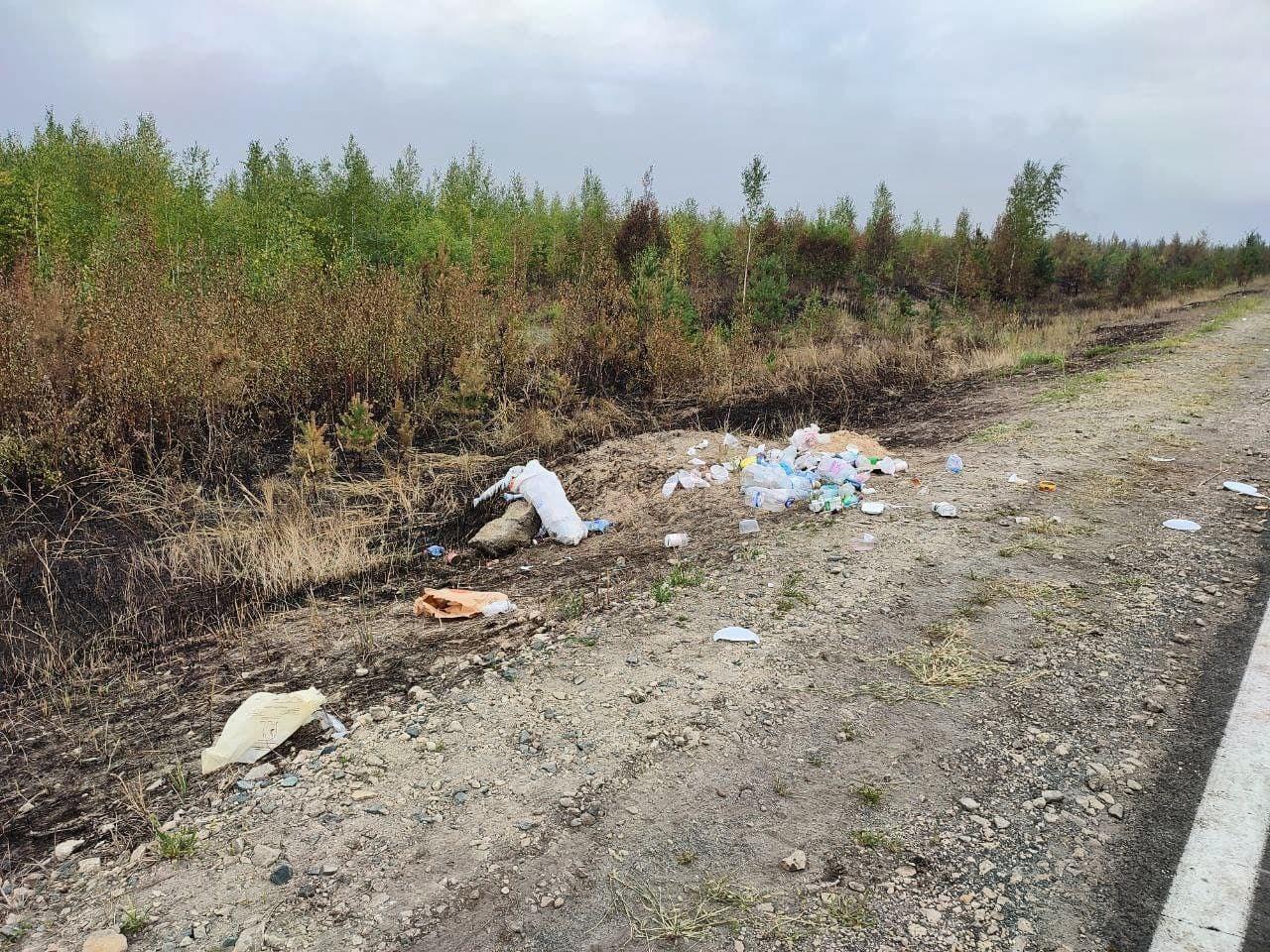 Минприроды Марий Эл просит волонтеров при тушении пожаров не оставлять мусор