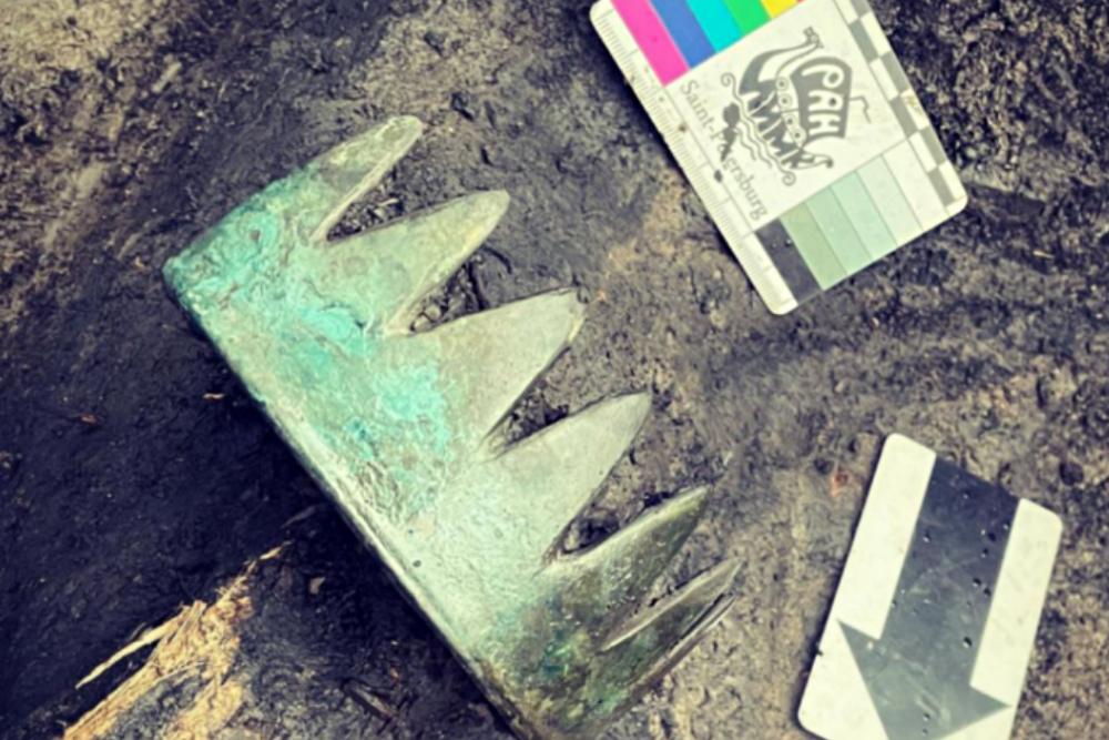 В кургане скифов в Туве найден аналог европейской короны
