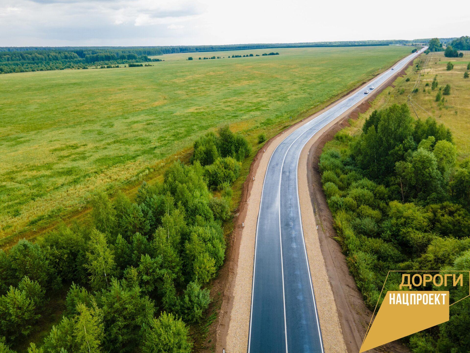 В Марий Эл отремонтировали 2 км дороги «Одобеляк – Куженер – Параньга»