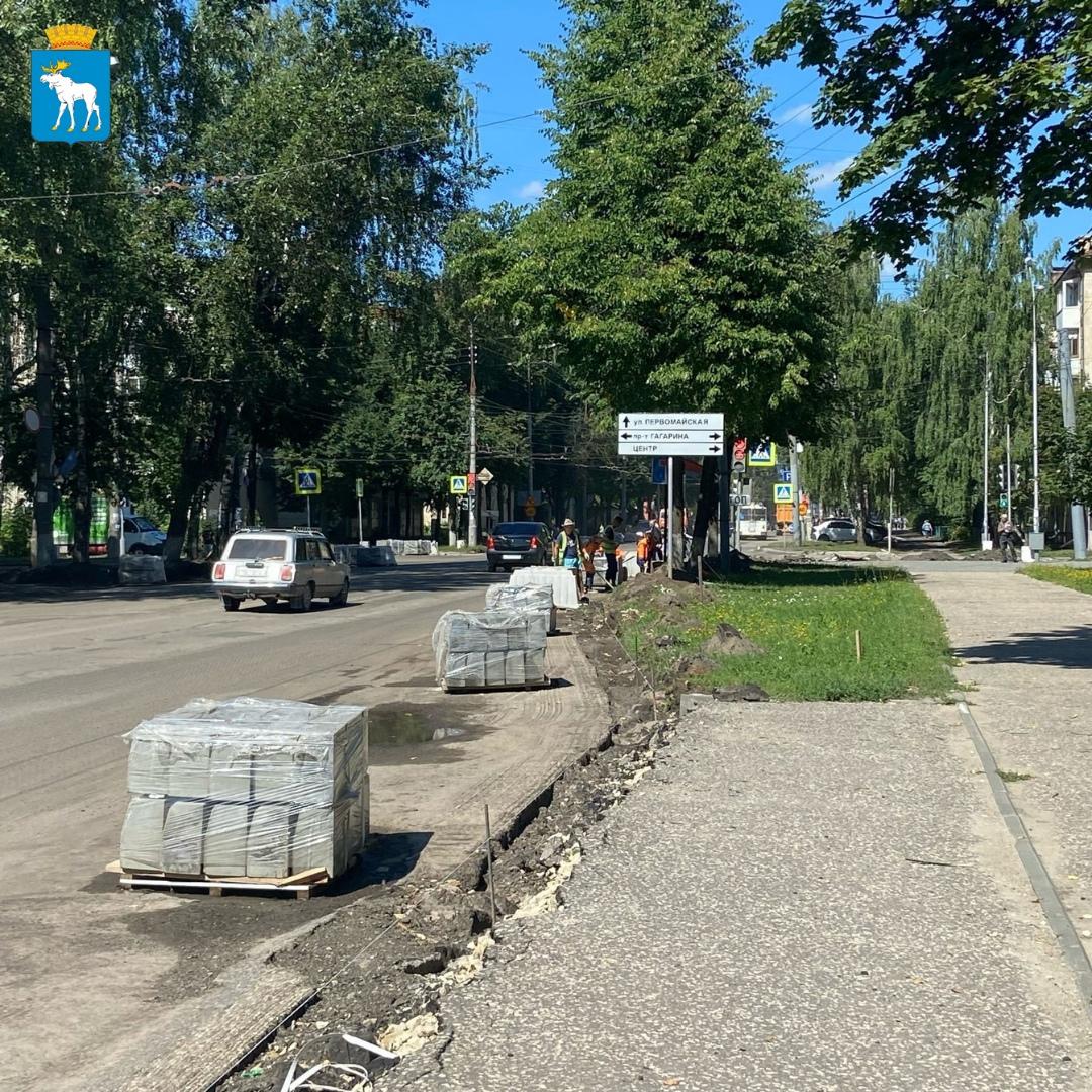 Дорожные работы на улице Панфилова завершат в начале сентября