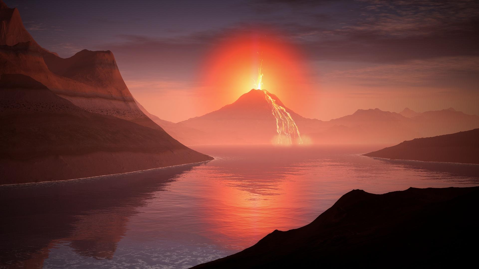 Кислород атмосферы Земли мог появиться в результате извержений вулканов