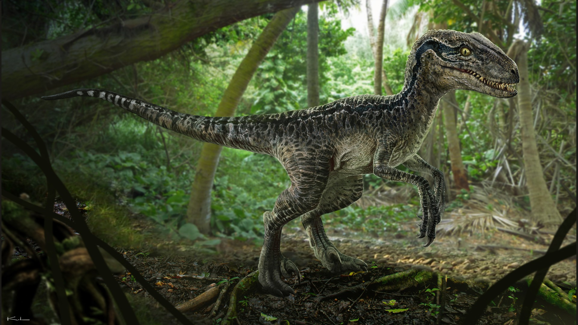 Science Advances: Хвост сэкономил динозавру энергию во время ходьбы