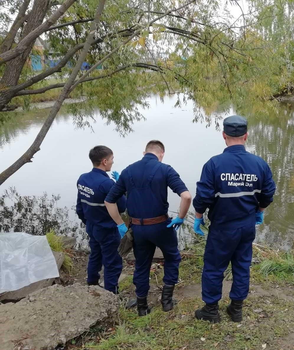 На окраине Йошкар-Олы спасатели достали из воды утопленника