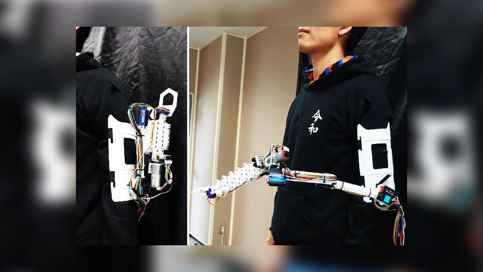 Инженеры Японии создали роботизированную руку AugLimb для человека