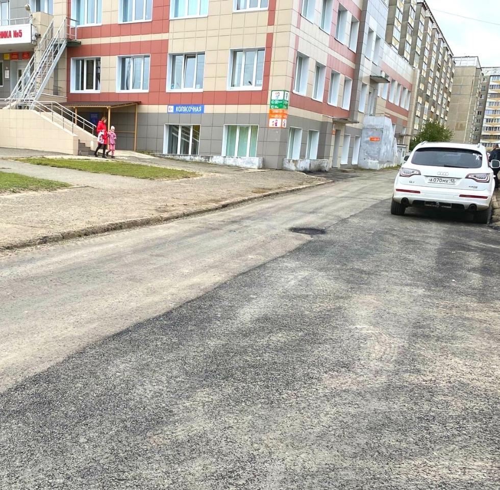 В Йошкар-Оле благоустроен проезд к детской поликлинике №5