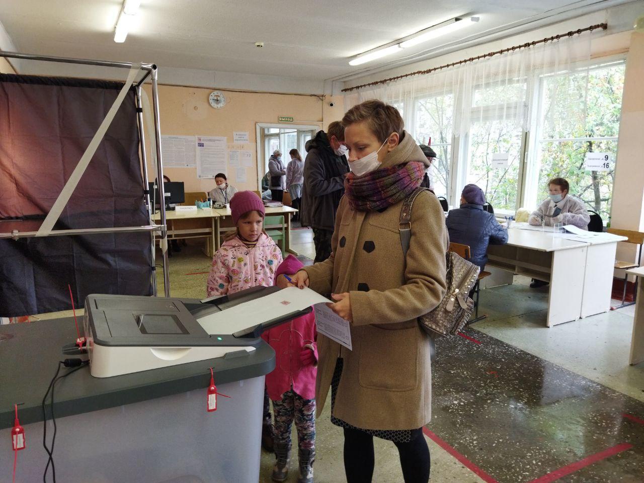 На выборы жители Марий Эл приходят с детьми