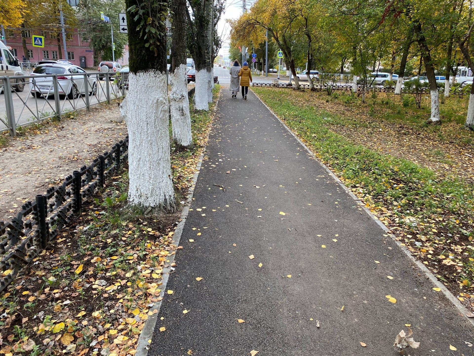 В Йошкар-Оле отремонтирована пешеходная зона на улице Суворова