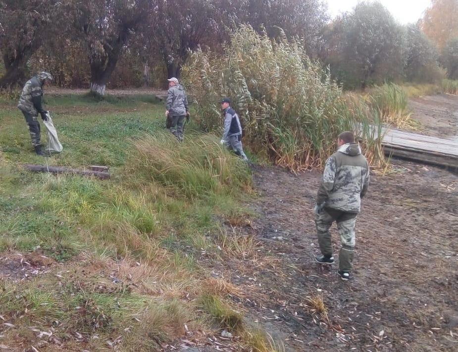 В Килемарском районе навели порядок на берегу водоема