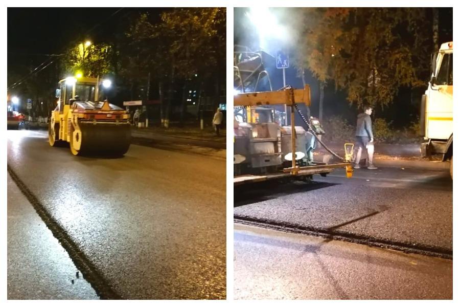 В Йошкар-Оле на улице Панфилова уложили второй слой асфальта