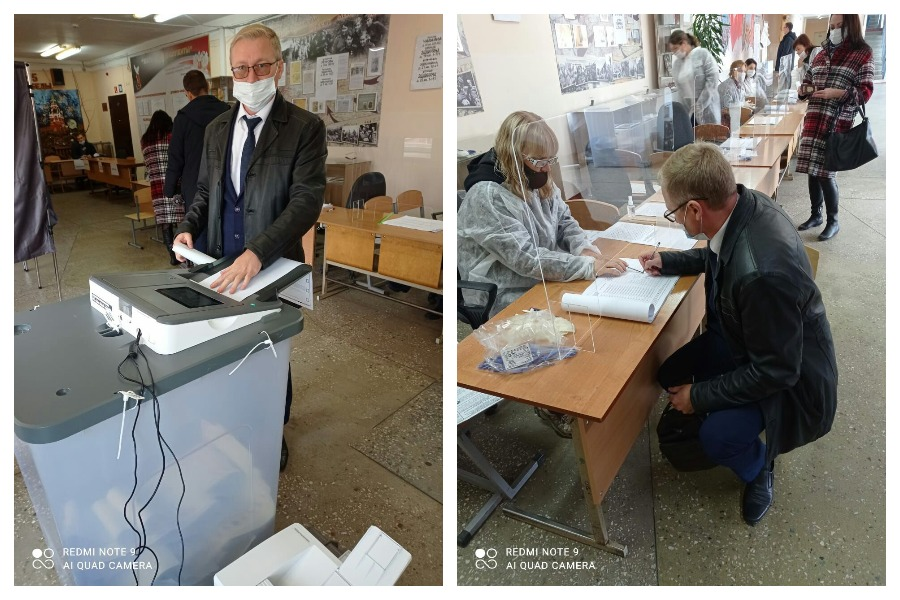 Директор ОПЦ Марий Эл проголосовал на выборах вместе с семьей