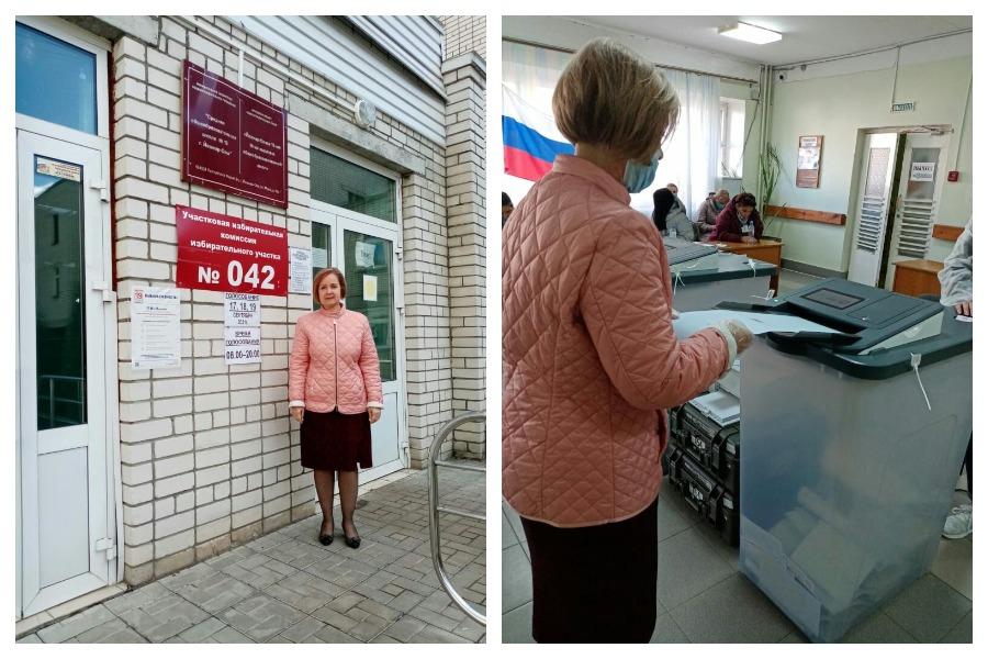 В Йошкар-Оле проголосовала главный врач столичной поликлиники №1
