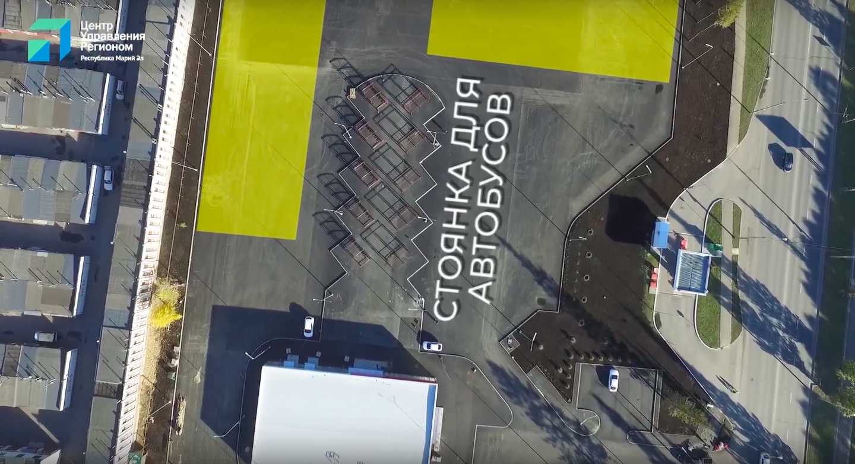 В Йошкар-Оле завершают строить новый автовокзал с 10 остановочными павильонами