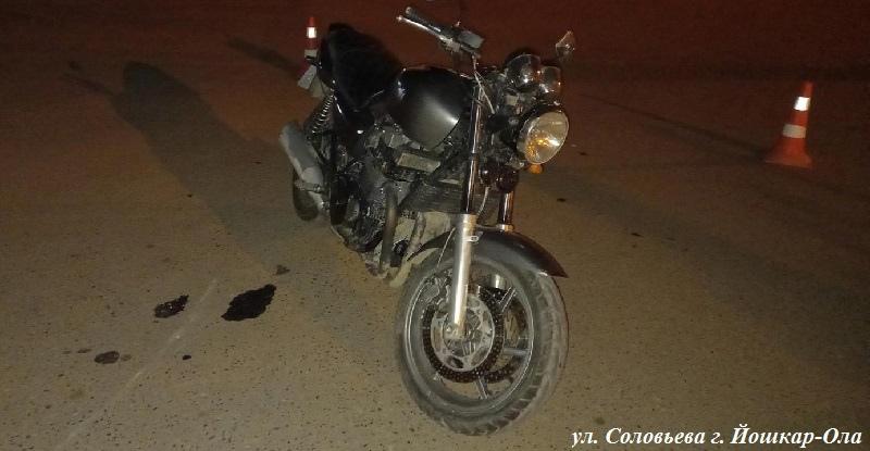 30-летний мотоциклист был госпитализирован после ДТП в Йошкар-Оле