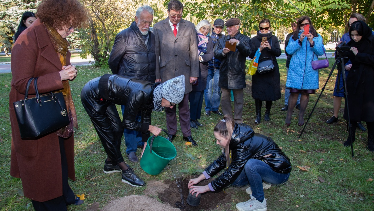 В Марий Эл высадили три дуба Петра Первого
