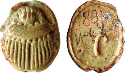 Древние сарматы хоронили своих детей с погребальными фаянсовыми скарабеями