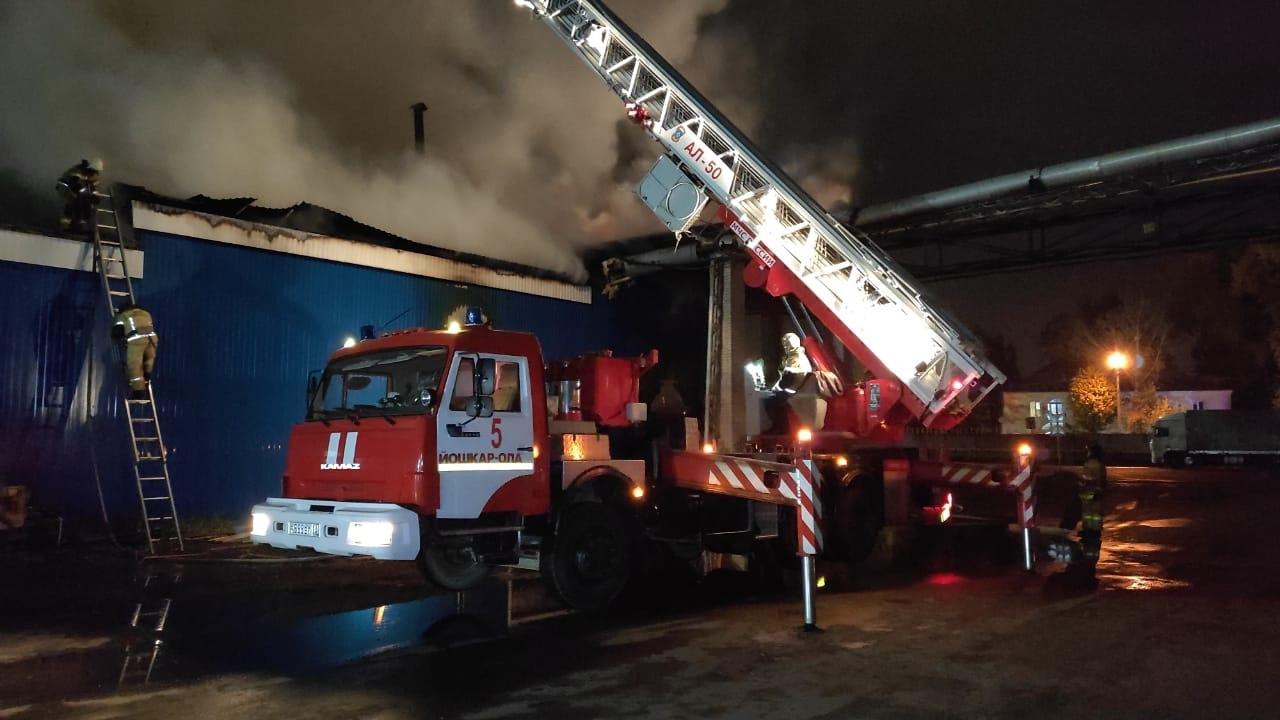 29 пожарных тушили возгорание в Йошкар-Оле на деревообрабатывающем предприятии