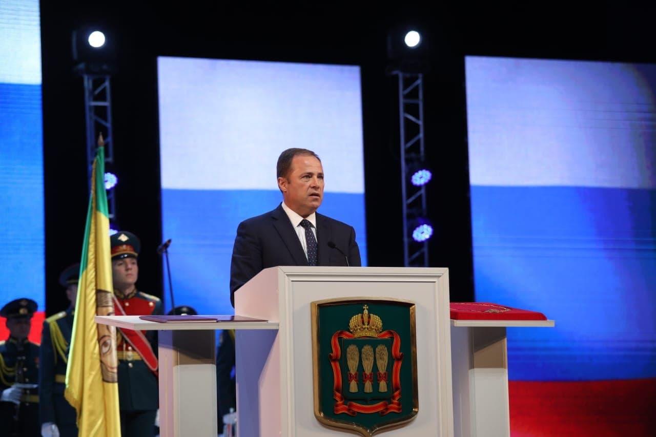 Игорь Комаров поздравил Олега Мельниченко с вступлением в должность губернатора Пензенской области